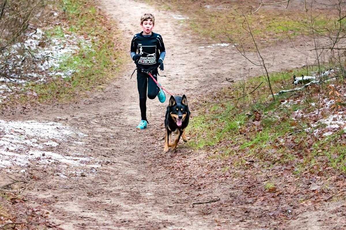 Canicross zondag 17 februari in Norger bossen